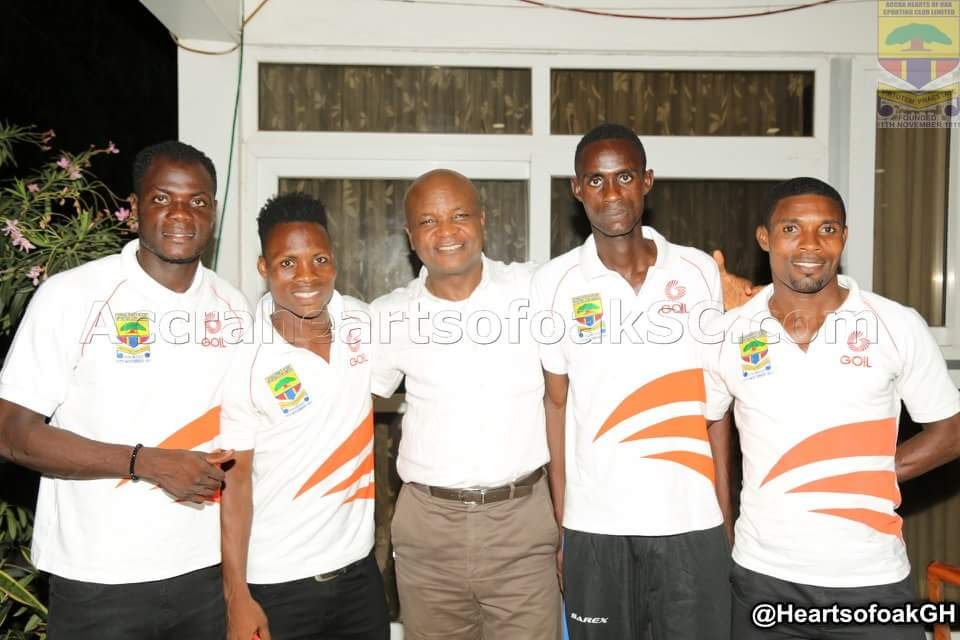 Toigbe Afede IV host dinner for Hearts players