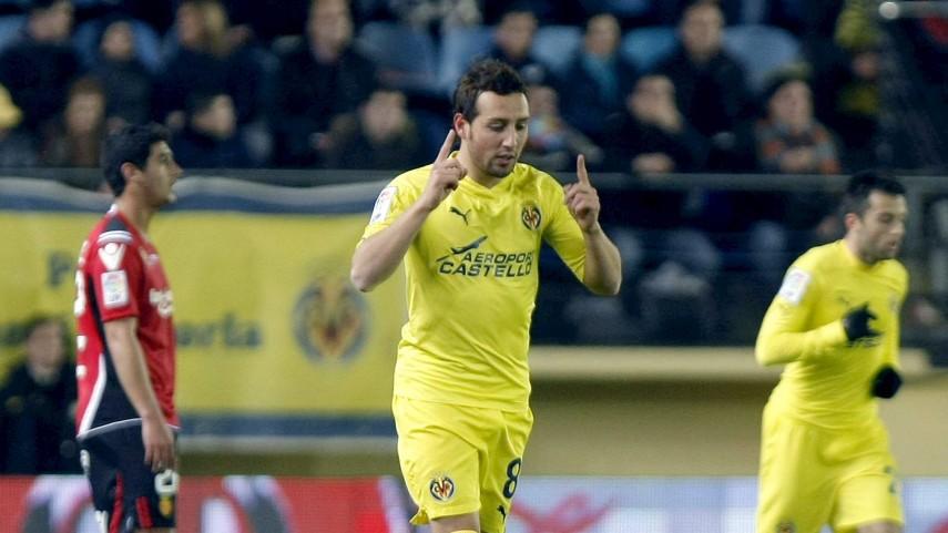 Villarreal starlets salute idol Cazorla
