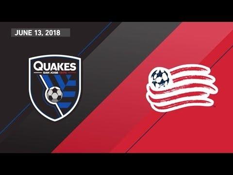 HIGHLIGHTS: San Jose Earthquakes vs. New England Revolution | June 13, 2018