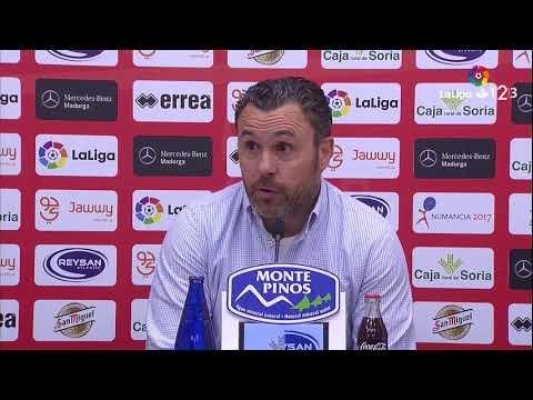 Rueda de prensa de Sergio González tras e CD Numancia vs Real Valladolid (0-3)