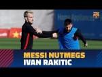 #BarçaWorldCup | Messi (Argentina) nutmegs Rakitic (Croatia)