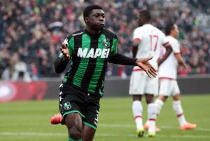 AC Milan in pole position to sign Alfred Duncan from Sassuolo