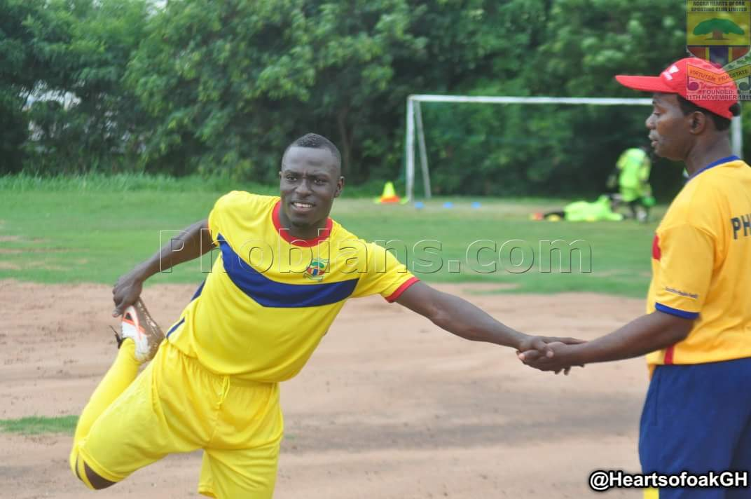 Patrick Razak returns to training after recovering from injury