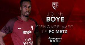 Ghana international John Boye to start for FC Metz against Monaco