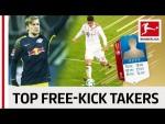 Top 10 Free-Kick Takers World Cup 2018 - EA SPORTS FIFA 18 - James, Forsberg & More