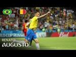 Renato AUGUSTO Goal – Brazil v Belgium  – MATCH 58