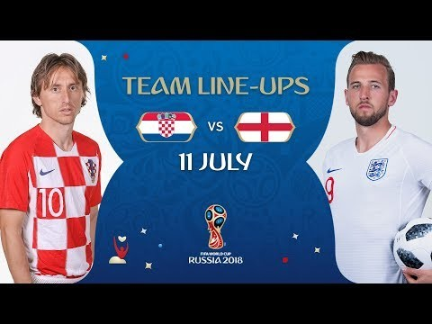 LINEUPS – CROATIA v ENGLAND - MATCH 62 @ 2018 FIFA World Cup™