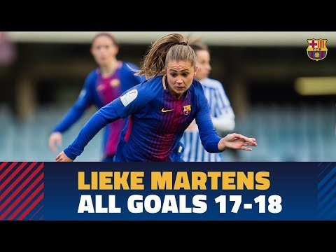 All Lieke Martens' goals with Barça in the 2017/18 season