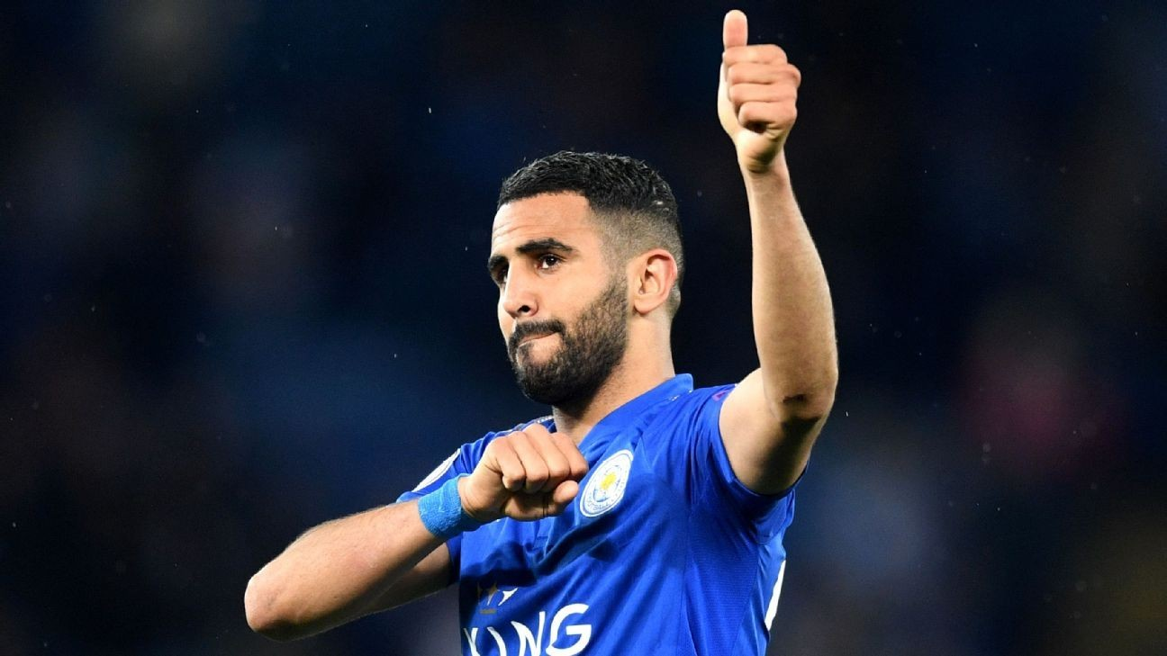 Manchester City sign Riyad Mahrez from Leicester City in club-record deal