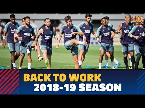 First training session of the 2018-19 season