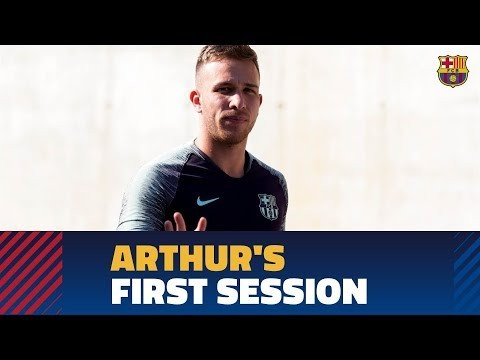 Arthur's first training session with Barça / Second training session of the 2018-19 season
