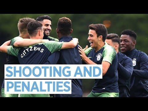 SHOOTING PRACTICE AND PENALTIES! | MAN CITY TRAINING