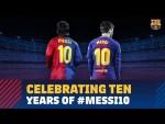 A decade of Messi as Barça's no.10
