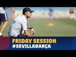 Focusing on Sevilla in training