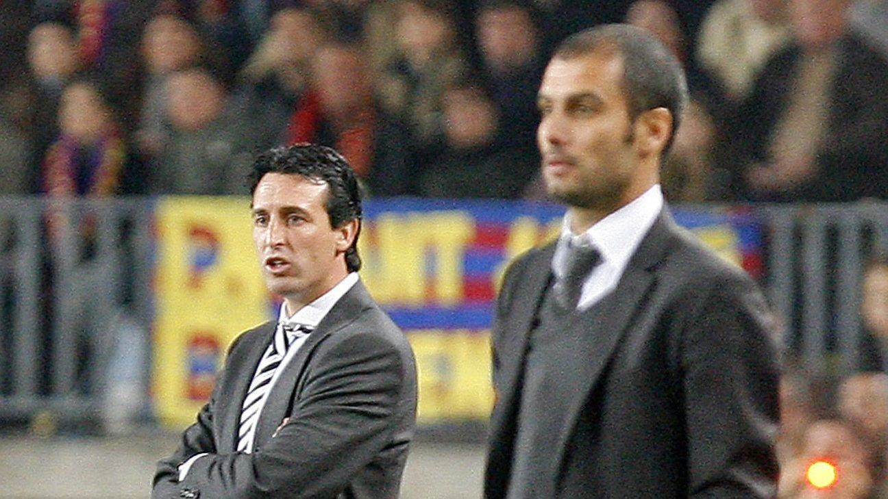 Arsenal's Unai Emery and Man City's Pep Guardiola set to renew tactical chess game in England