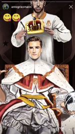 Antoine Griezmann trolls Real Madrid's Sergio Ramos with 'coronation' image