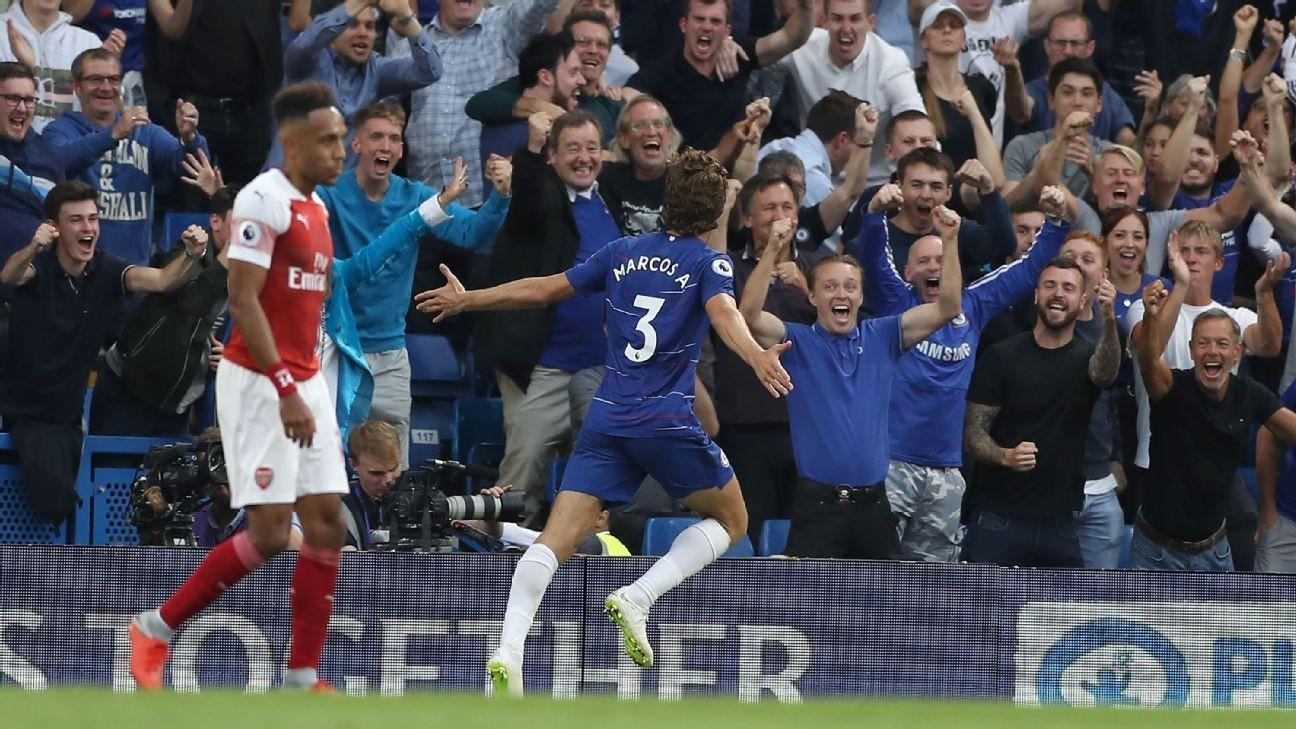Marcos Alonso, Eden Hazard inspire work-in-progress Chelsea vs. Arsenal