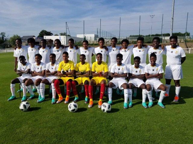 Video: Michael Essien visits Black Princesses ahead of U20 WC game against France