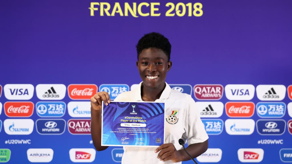 U-20 WWC: Grace Asantewaa named player of the match in Ghana's win over New Zealand