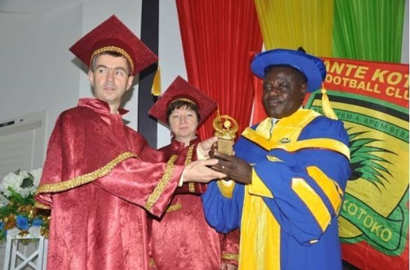 Asante Kotoko CEO Dr Kwame Kyei receives honorary professorship