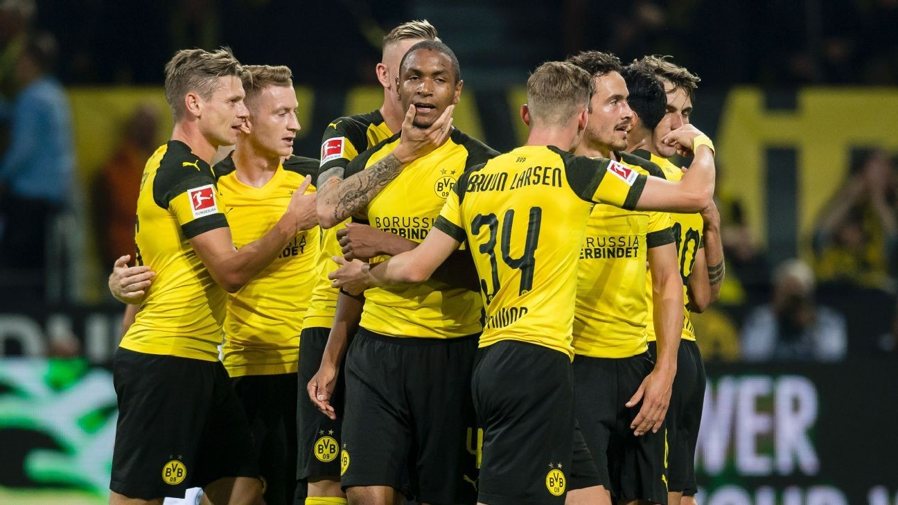 Second-half goals lead Borussia Dortmund over Eintracht Frankfurt