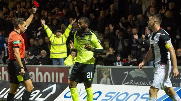 Brendan Rodgers: Celtic boss criticises Olivier Ntcham sending-off at St Mirren