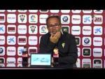 Rueda de prensa de Álvaro Cervera tras el Albacete BP vs Cádiz CF (1-1)