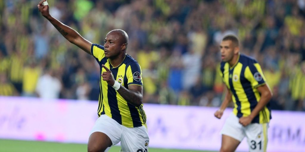 Andre Ayew impresses in Fernabache's Europa League stalemate with Anderlecht