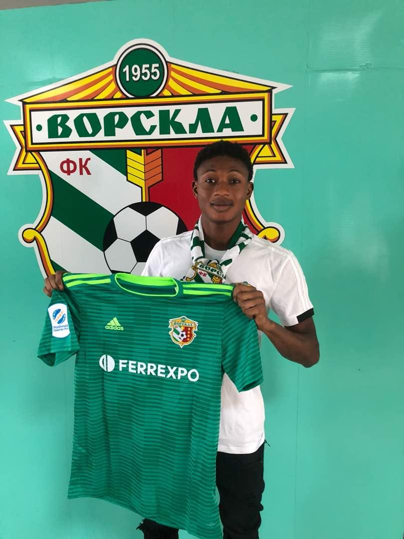 Ghanaian youngster Najeeb Yakubu joins Ukranian side Vorskla Poltava FC