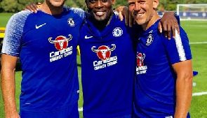Michael Essien trains with Chelsea in his bid to keep fit