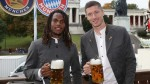 Bayern Munich at Oktoberfest: Stars don lederhosen and drink litres of beer