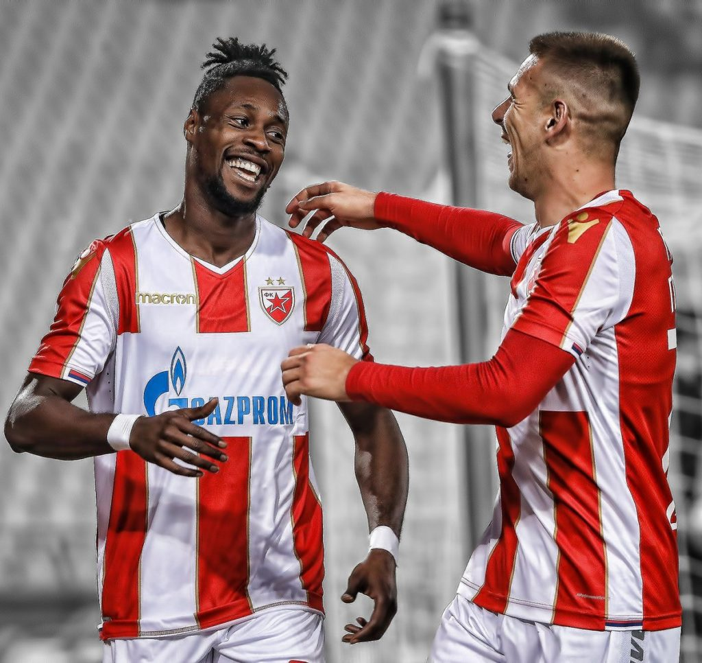 Ghana forward Boakye-Yiadom scores a brace in Red Star Belgrade's 3-1 win over Rad Beograd [VIDEO]