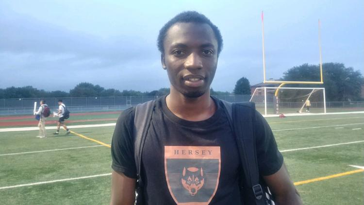Meet Majeed Hassan who flew from Ghana to Peru, then walked to the U.S border sign for Hersey SC