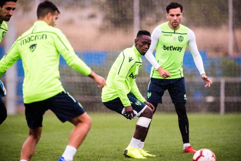 Emmanuel Boateng trains with Levante teammates ahead of Real Madrid clash