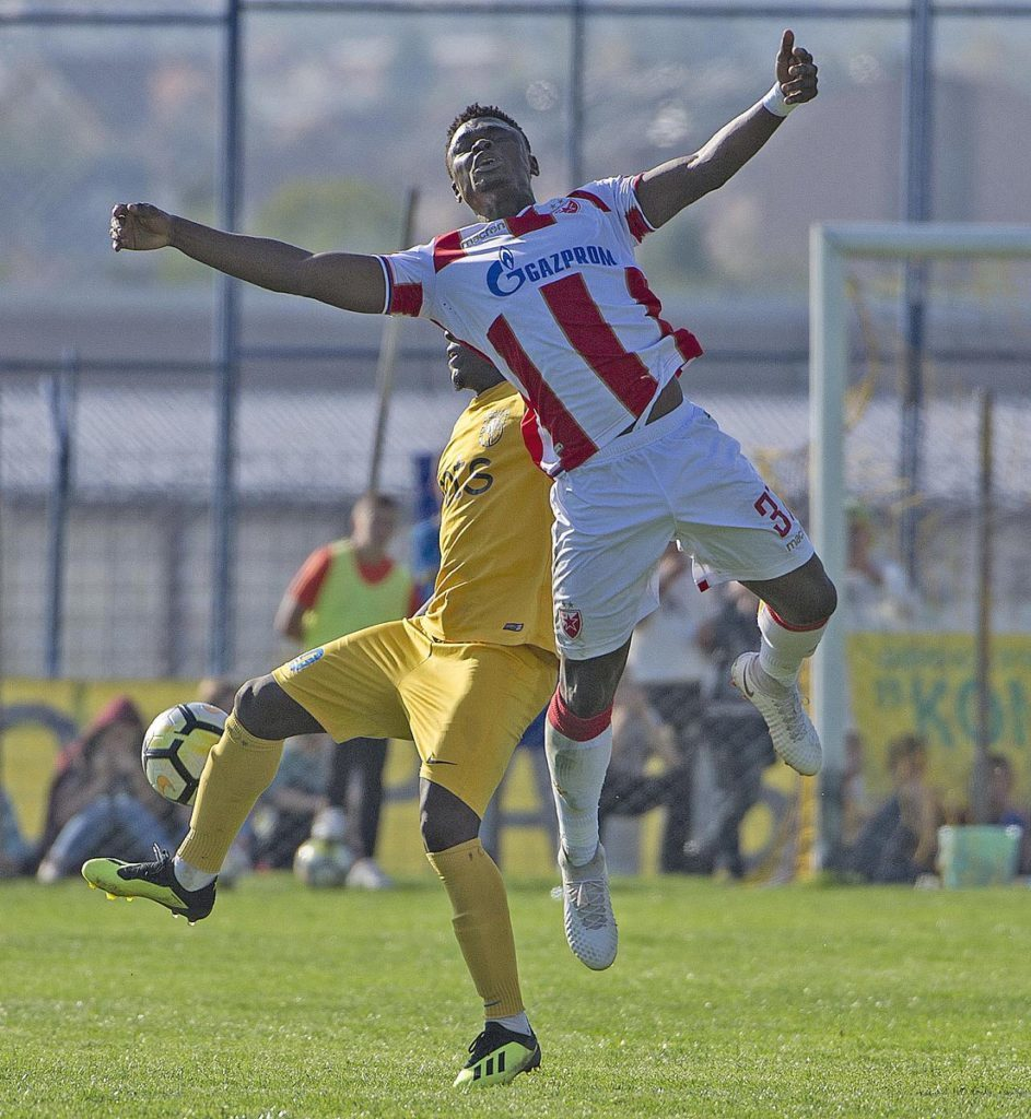ashid Sumaila could earn more time at Red Star Belgrade after Filip Stojkovic's injury