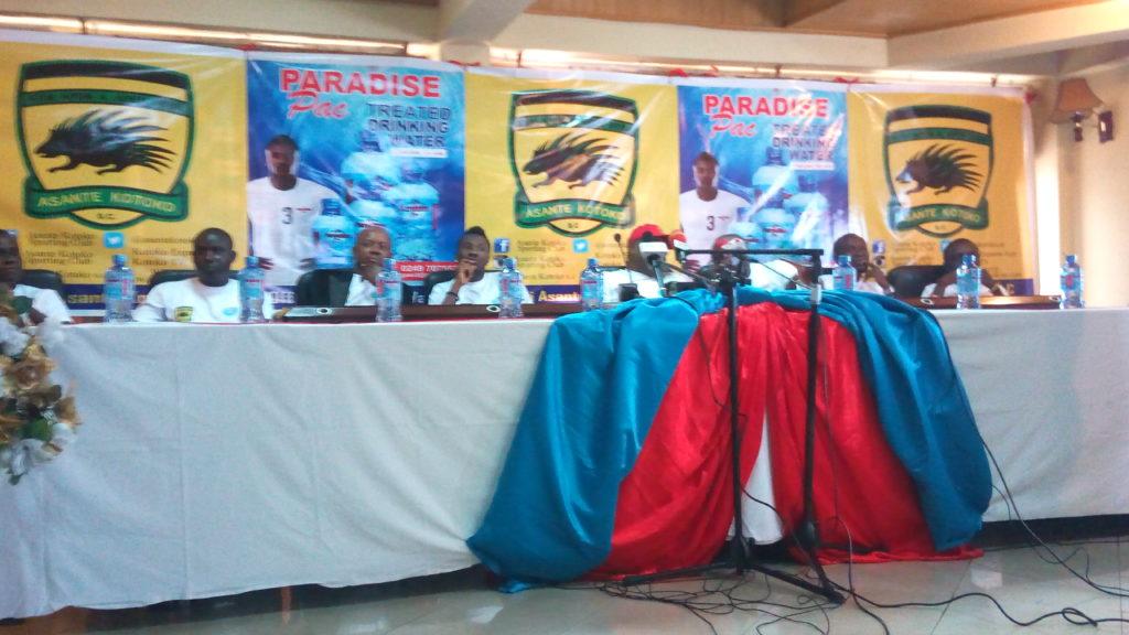OFFICIAL: Asante Kotoko seal mega deal with Asamoah Gyan's Paradise Pac drinking water