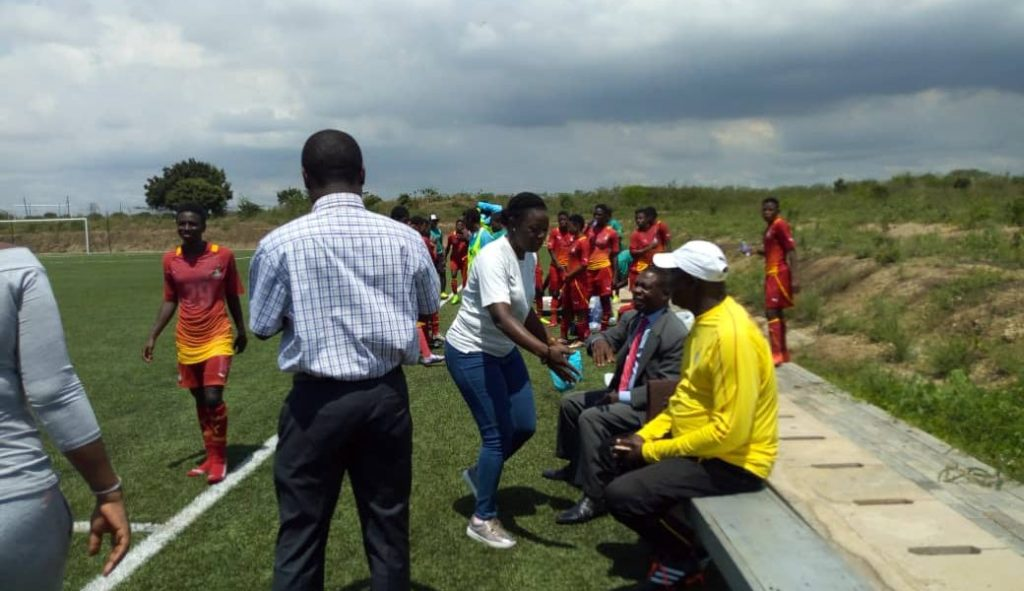 Normalization Committee visit Black Queens and Black Maidens team in Prampram