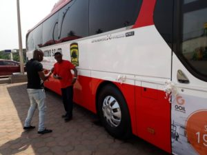 Asante Kotoko Chairman Dr Kwame Kyei officially unveils luxurious 45-seater bus ahead of Africa campaign