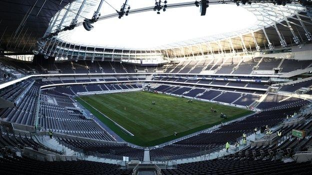 Tottenham warned over Champions League stadium advertisement