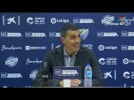 Rueda de prensa de López Muñiz tras el Málaga CF vs Nàstic (2-0)