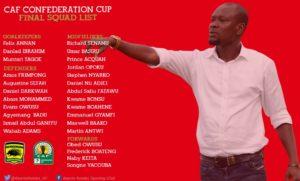Asante Kotoko include Daniel Nii Adjei and Stephen Nyarko in Africa squad