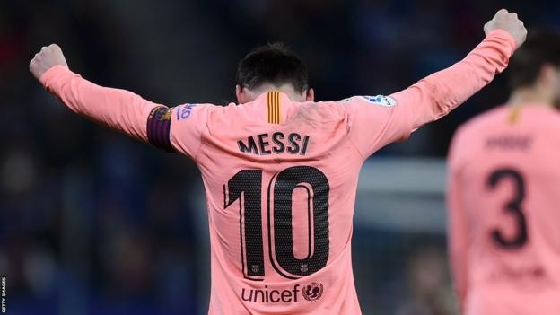 Espanyol 0-4 Barcelona: Lionel Messi scores twice as champions ease to victory