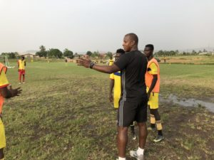 Ex-Sunderland Titus Bramble enjoys first training session with Accra Hearts of Oak