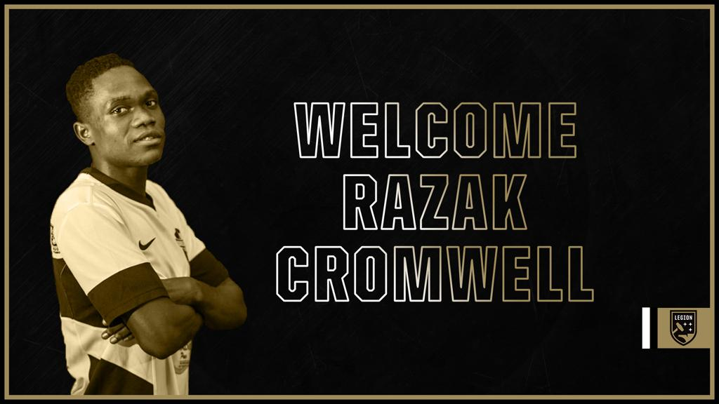 Razak Cromwell signs For USL club Birmingham Legion FC
