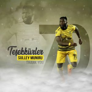 Muntari's younger brother Muniru Sulley part ways with Yeni Malatyaspor