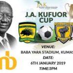 Asante Kotoko name starting line up against AshGold for JAK Cup