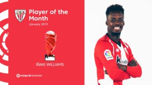 Inaki Williams named LaLiga Player of the Month for January