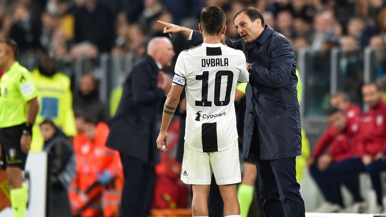 Juventus' Allegri, Dybala going nowhere - director Paratici