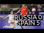 UEFA Women's Futsal EURO Semi-final highlights: Russia 0-5 Spain