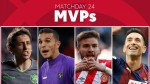 Who was the outstanding performer of Matchday 24 in LaLiga Santander?